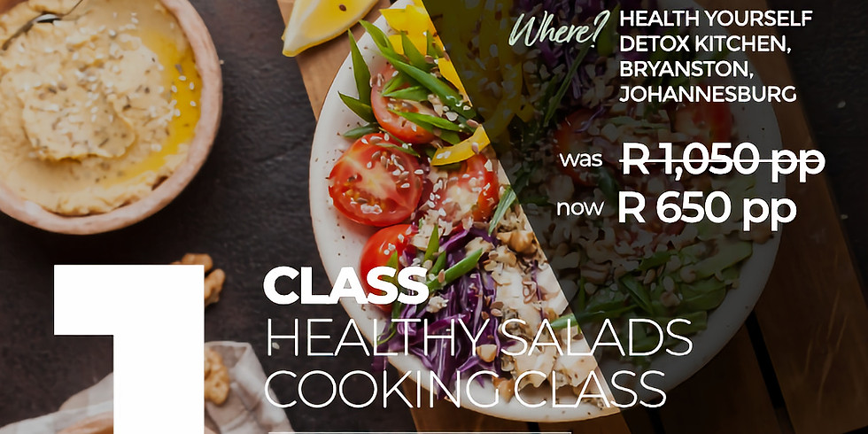 """1-Class """"Healthy Salads"""" Cooking Class"""