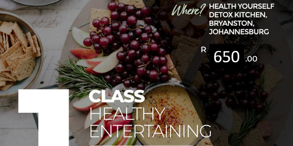"1-Class ""Healthy Entertaining"" Cooking Class"