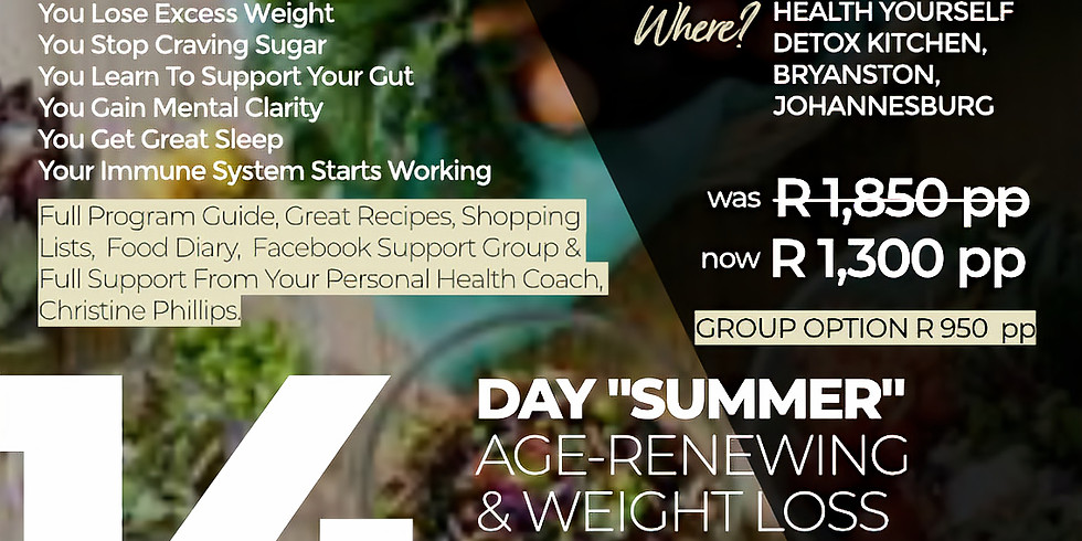 """14-Day """"Summer"""" Age-Renewing & Weight Loss"""