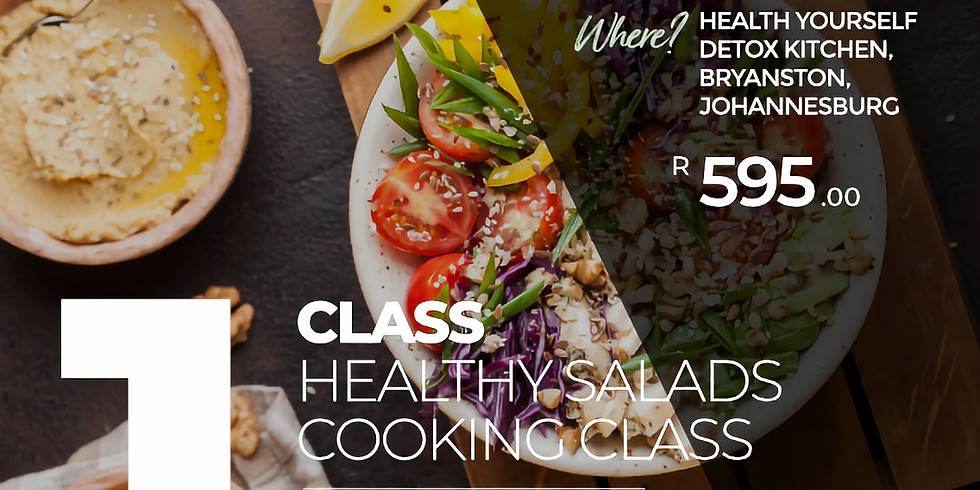 """1-Class """"Healthy Lunch Box and Salads"""" Cooking Class"""