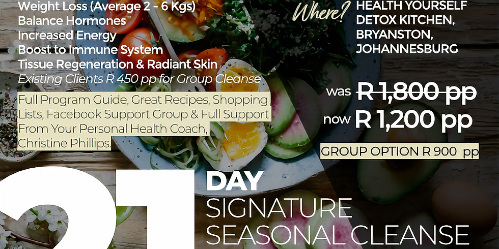 "21-Day ""Signature Seasonal Cleanse"""