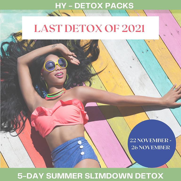 5 DAY SUMMER SLIMDOWN DETOX