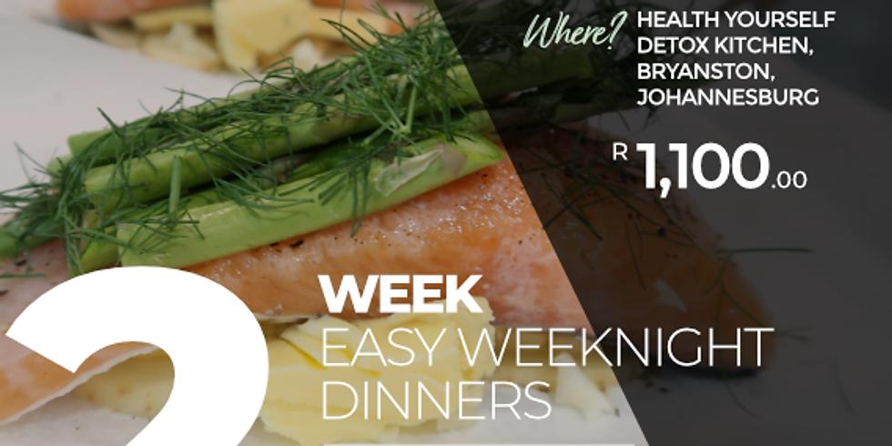 """2-Week """"Easy Weeknight Dinners"""" Cooking Course"""