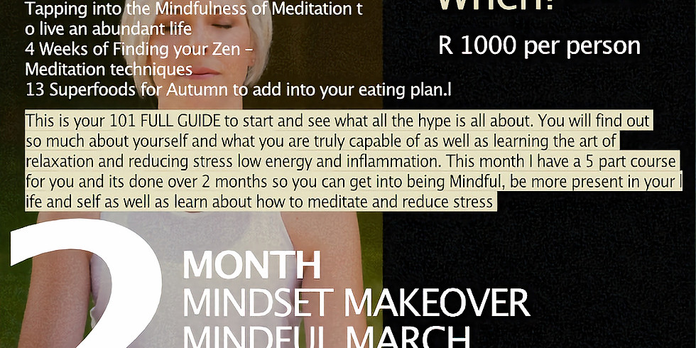 """2 -Month """"Mindful March"""" Makeover"""