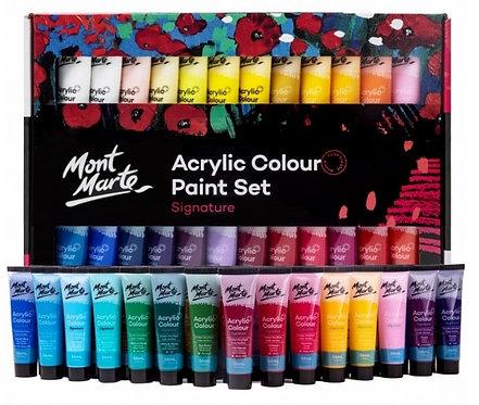 סט צבע אקריליק מונט מרט 1/48 36מל בשפופרת