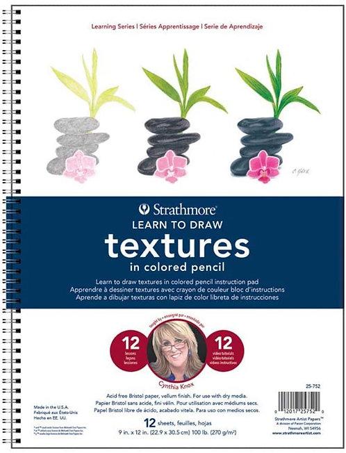 """בלוק לימוד טקסטורות בעפרונות STATHMORE 22.5/30 ס""""מ"""