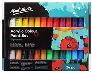 סט צבע אקריליק מונט מרט 1/24 36מל בשפופרת