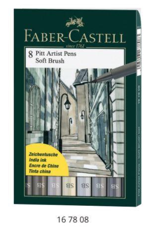 Pitt Artist Pen Soft Brush עטי - סט 8