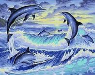 צביעה לפי מספר - דולפינים