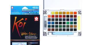 סט צבעי מים 60 כפתורים של KOI