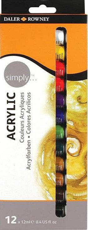 סט צבע אקריליק 1/12 12מל בשפופרת דאלר ראוני