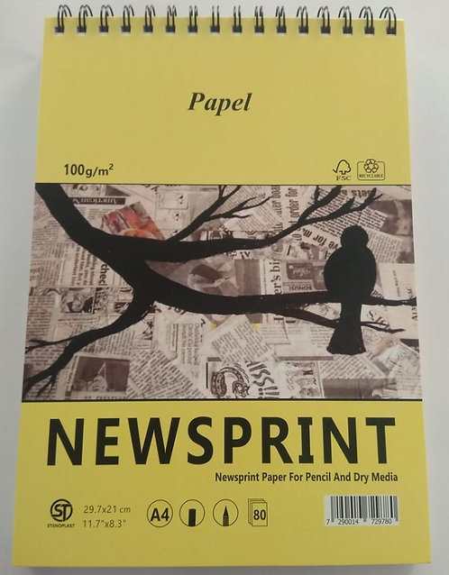 בלוק נייר עיתון 80 דף 100 גרם ספירלה עליון פפל A5