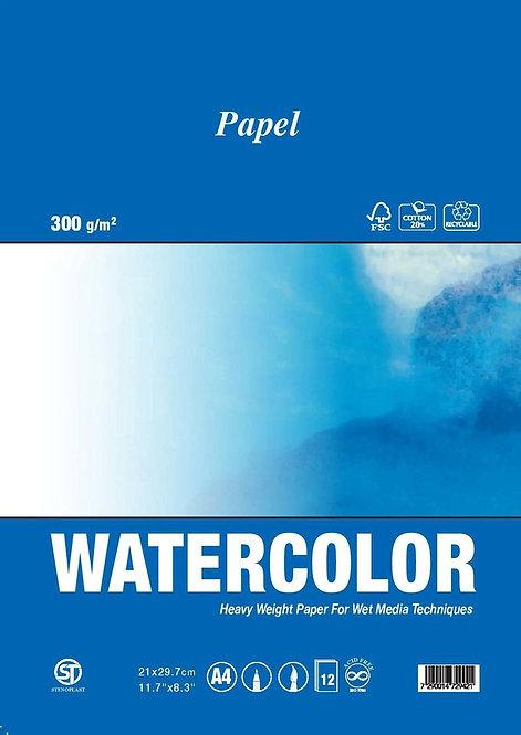 בלוק צבע מים פפל A5