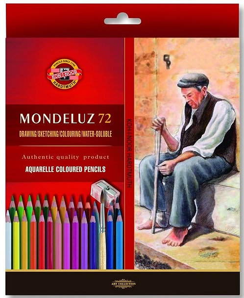 עפרון אקוורל MONDELUZ קוהינור סט 1/72