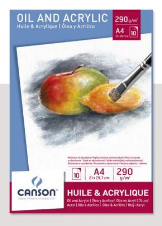 בלוק צבעי שמן ואקריליק  Oil & acrylic paper