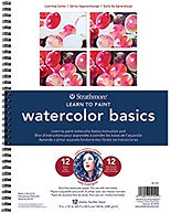 """בלוק לימוד ציור בצבעי מים בסיס STATHMORE 24/30 ס""""מ"""