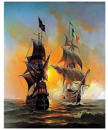 צביעה לפי מספר - ספינות מפרש