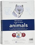 """בלוק לימוד ציור חיות STATHMORE 22.5/30 ס""""מ"""
