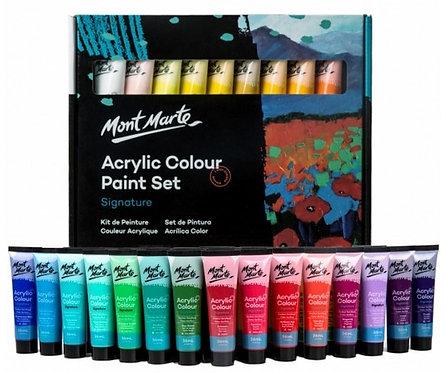 סט צבע אקריליק מונט מרט 1/36 36מל בשפופרת