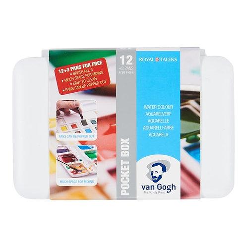 צבע מים כפתורים Talens Van-Gogh 3+ סט 12