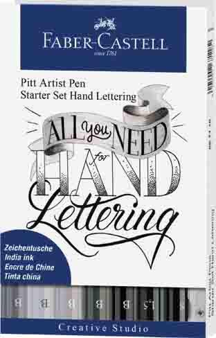 Pitt Artist Pen Brush - lettering