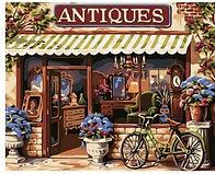 צביעה לפי מספר - חנות עתיקות