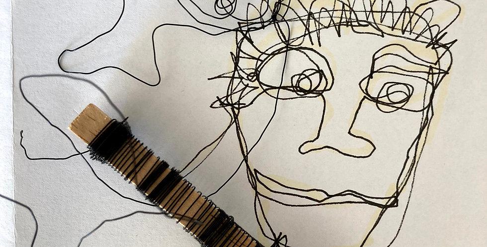 KURSUS - Blindtegning og ståltråd