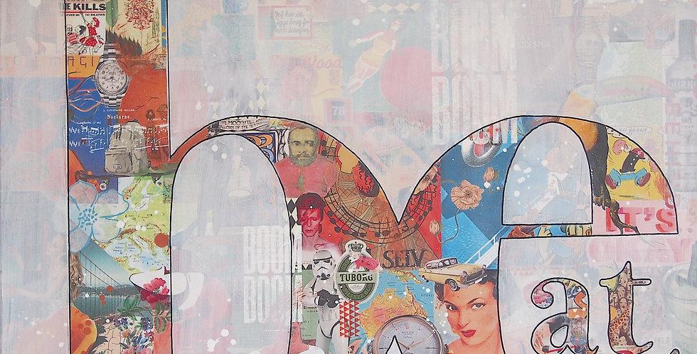BEAT - originalværk 100 x 120, mixed media på lærred