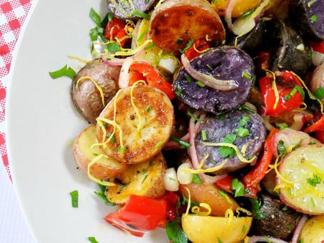 Red, White and Blue Savory Potato Salad