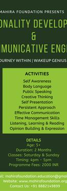 Personality Development & Communicative English