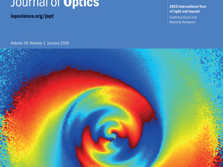 Research featured as a Highlight of 2015 in Journal of Optics