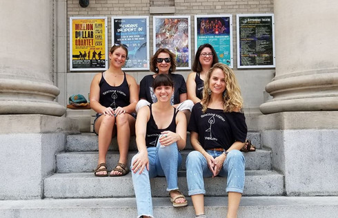 Board members at the Trauma-Informed Community Resource Fair, 2019