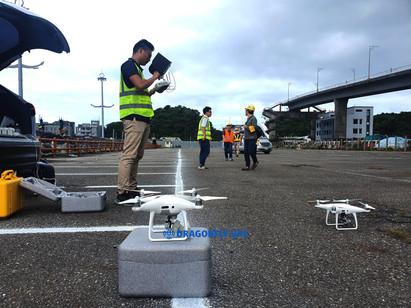 翔隆航太出動兩台無人機進行第一現場紀錄,提升實景模型的完整與準確度。圖片來源:翔隆航太(未經允許請勿轉載)