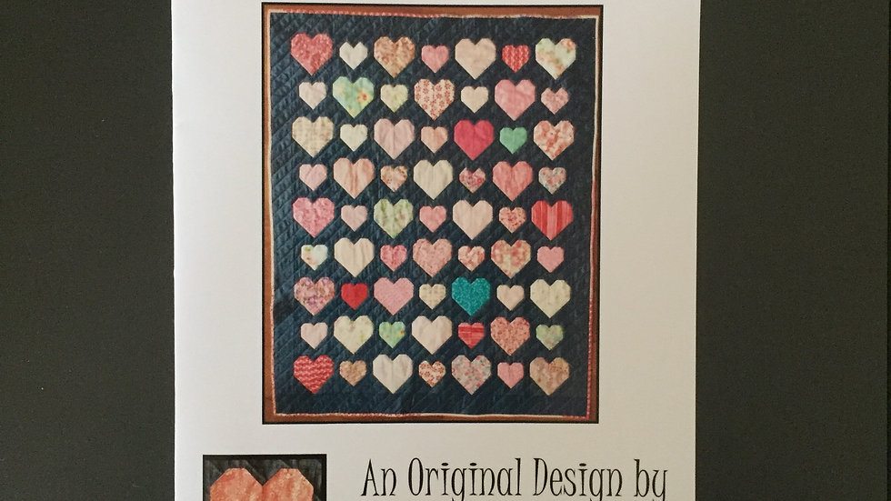 Happy Scrappy Hearts Quilt Pattern