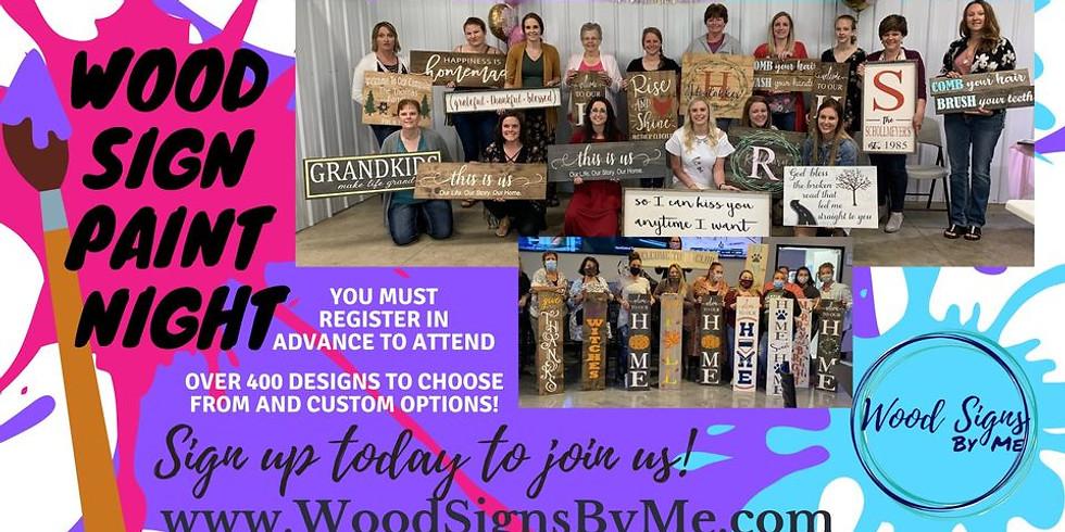 Wood Sign Paint Night at Ditmars Orchard & Vineyard