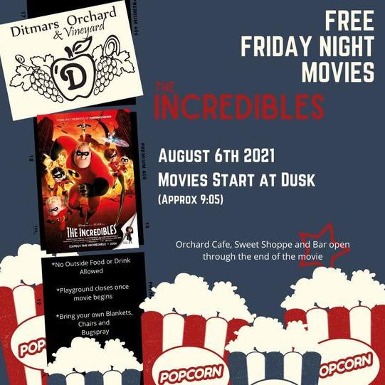 Free Friday Night Movies - Incredibles