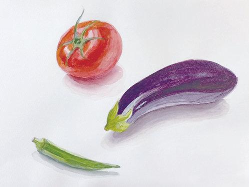 絵画 野菜を描こう8/17(月)10:30-12:00(内部生)