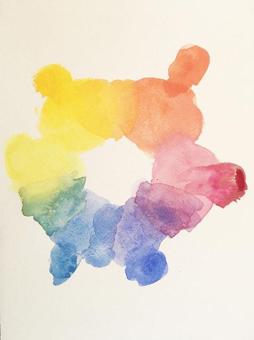 6原色で水彩を描く8/18(火)10:30-12:00