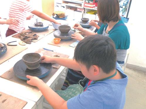 親子でペアのお茶碗を作ろう