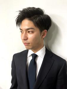 黒髪アップバング・ビジネスショート!!
