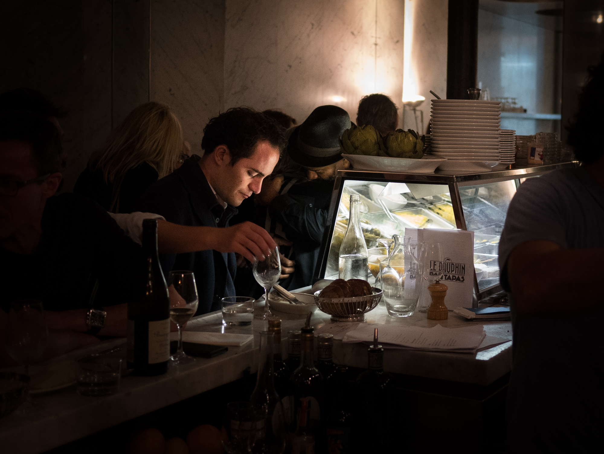 Paris, Bar, le Dauphin, food