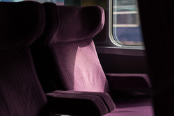 train, seat, paysage, light