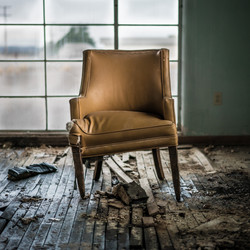 USA, abandoned, chair, Amboy