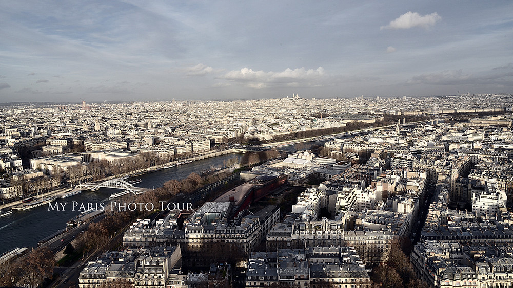 View from the Eiffel Tower with the Sacré Coeur Basilica