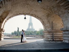 ¿Cómo hacer tus fotos de luna de miel y postboda en París?