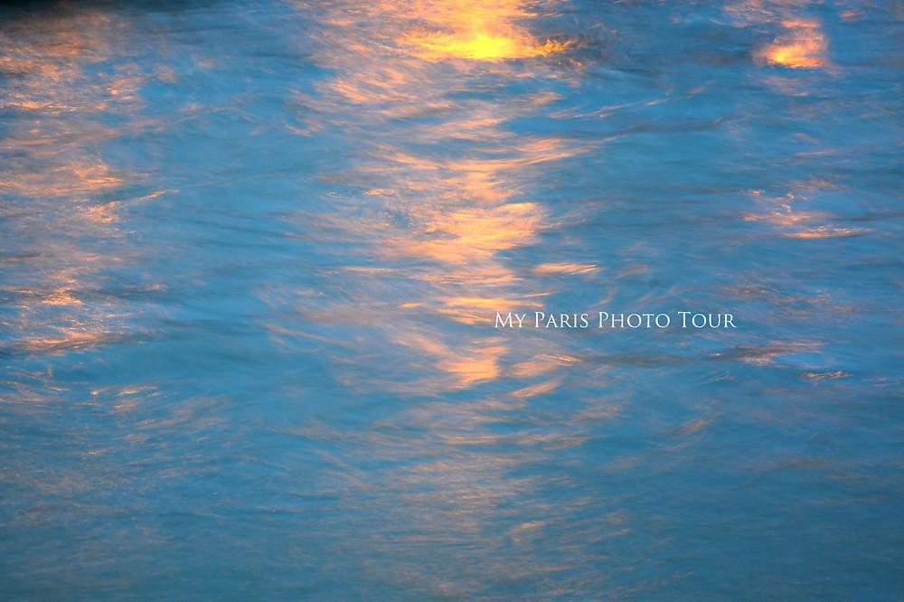 desenfoque de movimiento agua en el Sena