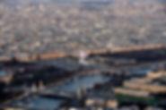 Paris, desde la torre Eiffel, Rivoli, Concorde, el Sena