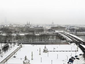 Nieve en París, fotografiar desde la gran noria de la Concorde