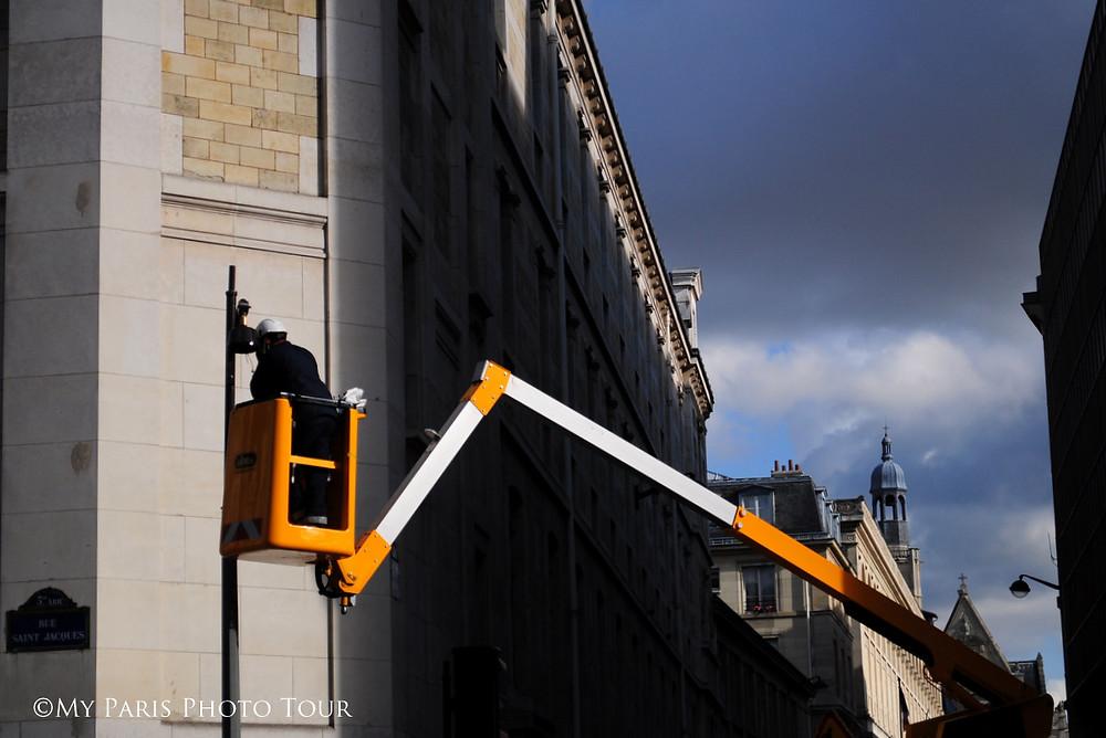 trabajos en la rue Saint Jacques París