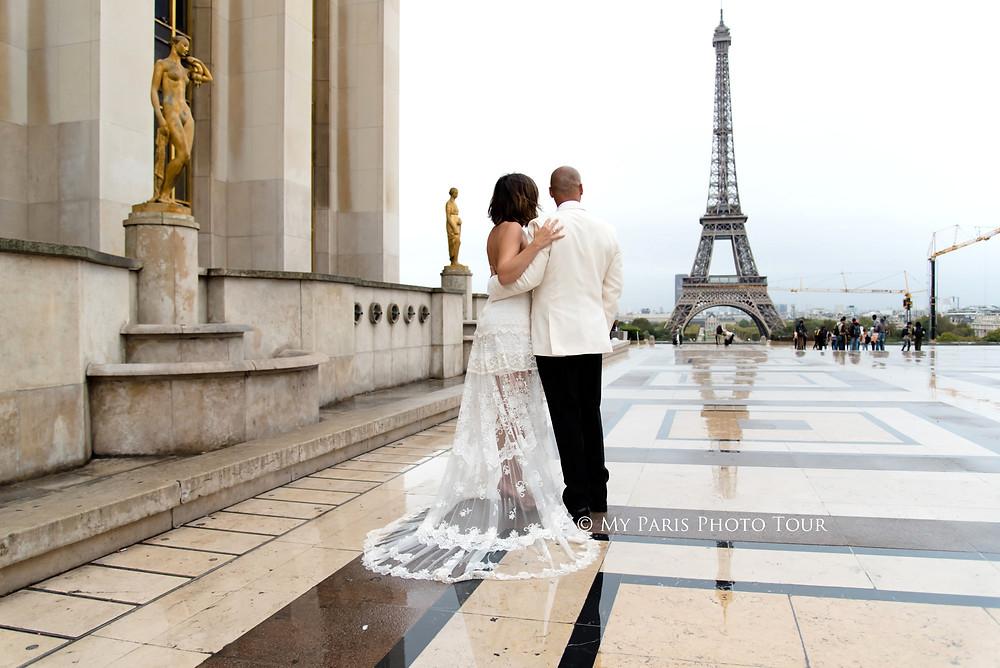 My Paris Photo Tour foto luna de miel postboda Trocadero torre Eiffel Paris fotografo español
